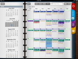 Vista del Calendario en Pocket Informant